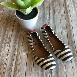 Lucky Brand Stripe Ballet Flats